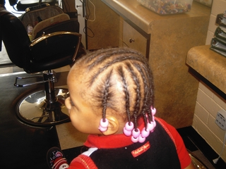 cornrows with beads I did