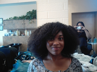 afro curly weave i did