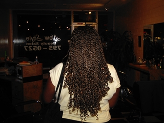 Senegelease Twists With Curls On End